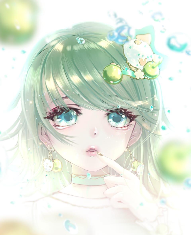 Sparkling Girl Illust of まころん☆ September2021_Girl illustration animegirl girl background oc anime 似顔絵 美少女 kawaii original