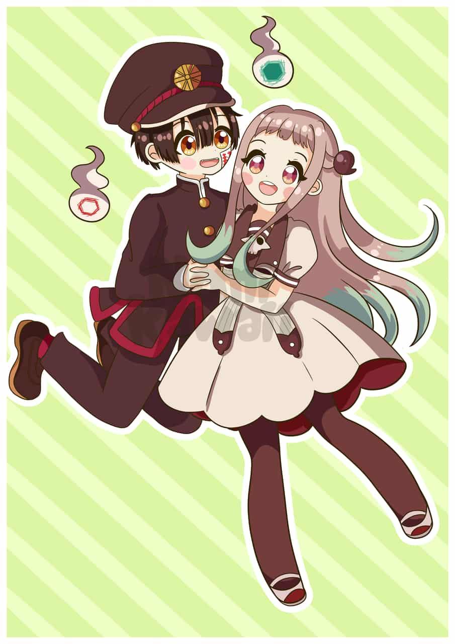Hanako and Nene <3 Illust of nomi_kawaii hanakokun anime Toilet-boundHanako-kun