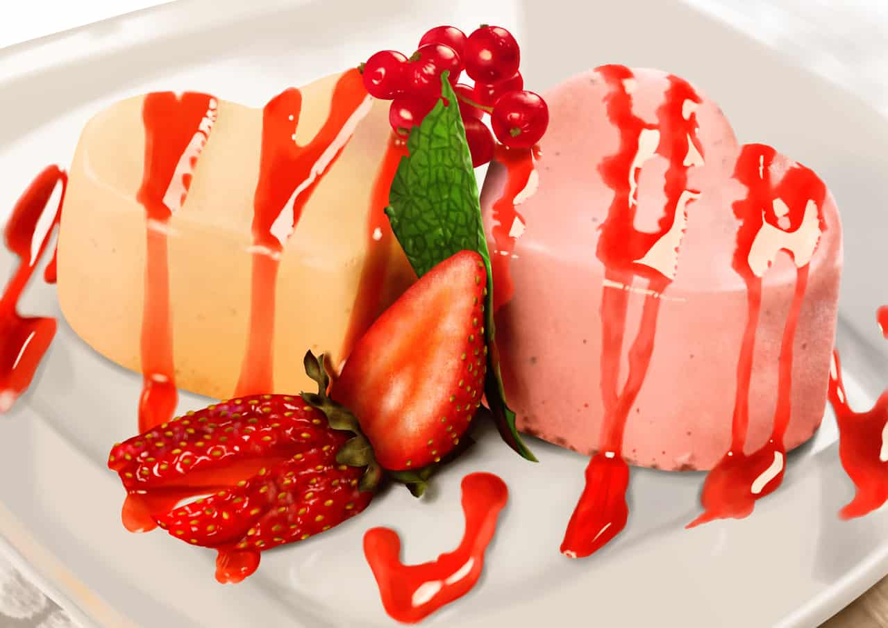 Cake Illust of ちゃゆ / ぱく food スイーツ cake 模写 strawberry