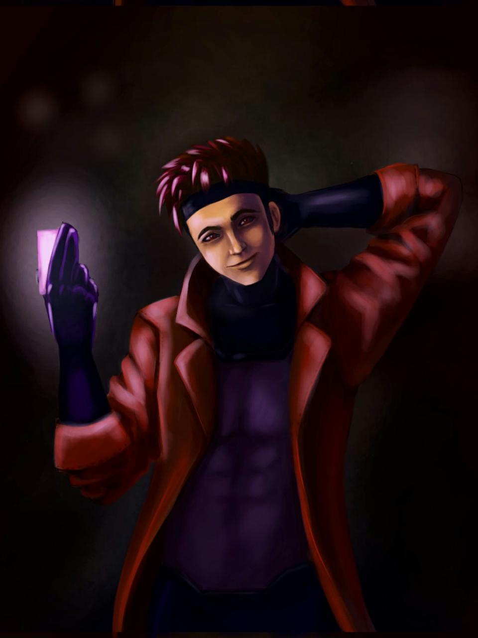 gsmbit Illust of Lema-lisa medibangpaint Xmen fanart gambit