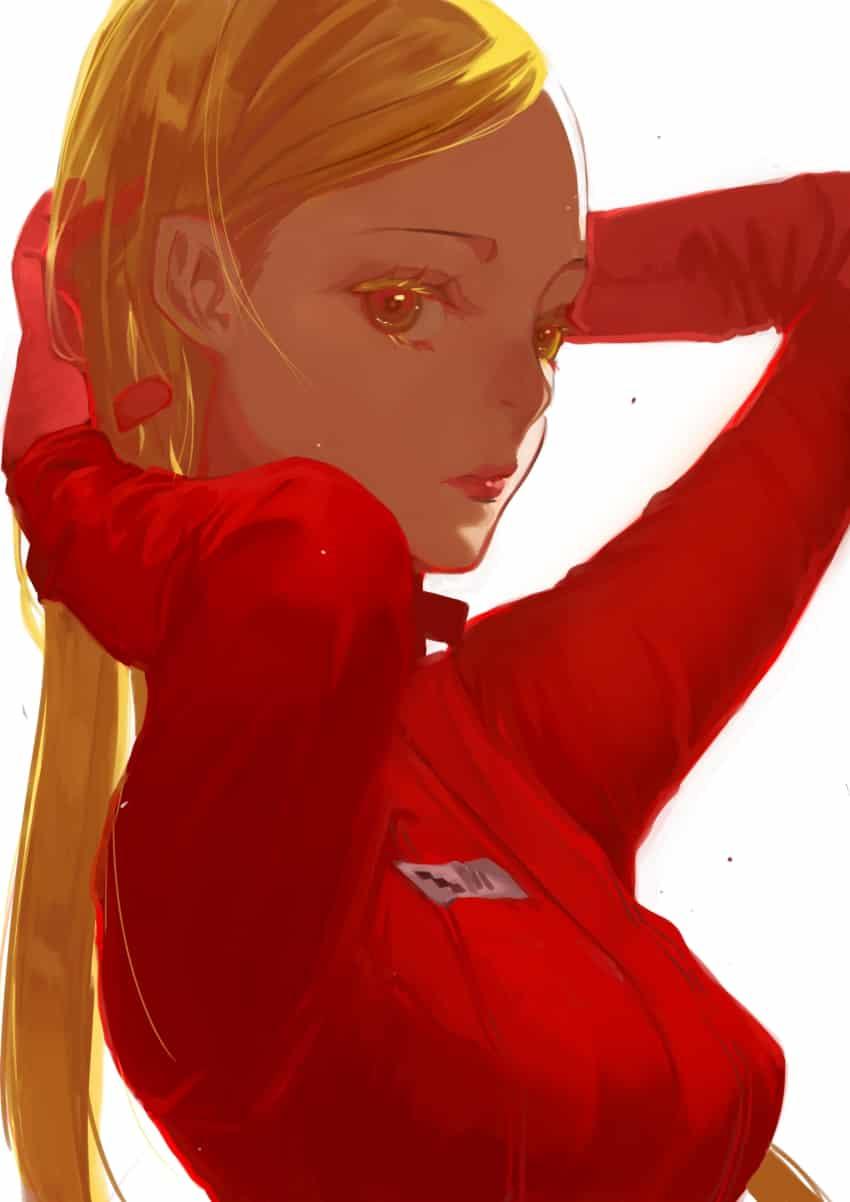 赤女 Illust of UⅡ original 女 blonde オリジナルキャラ red