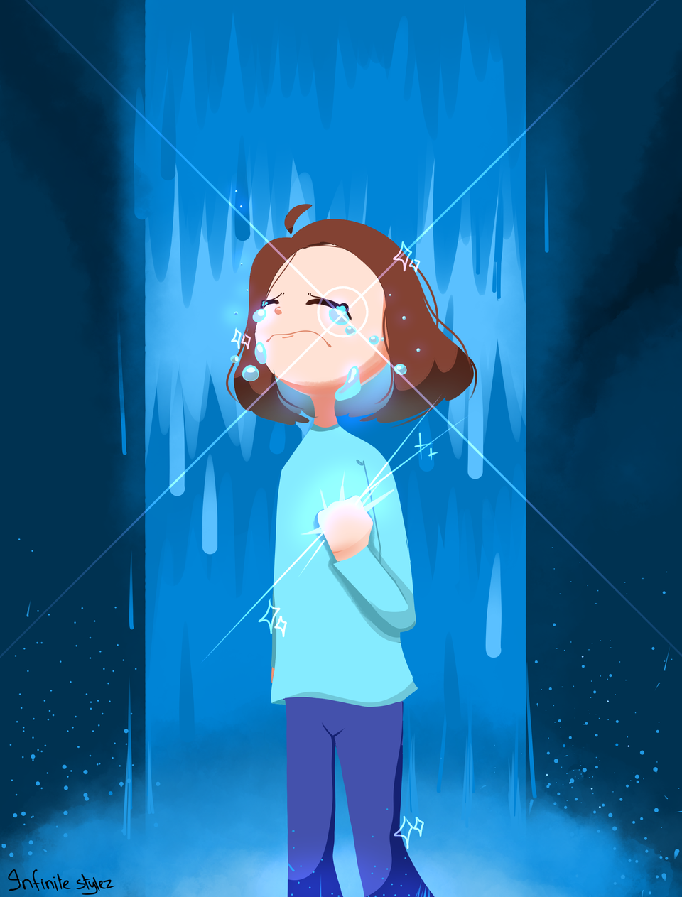 Let it all out... Illust of Infinite stylez medibangpaint cry blue Fingerpaint infinitestylez
