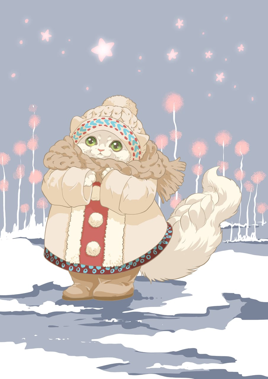 おやすみ前の短時間らくがきチャレンジ5 Illust of 砂虫隼 生き物 animal original cat