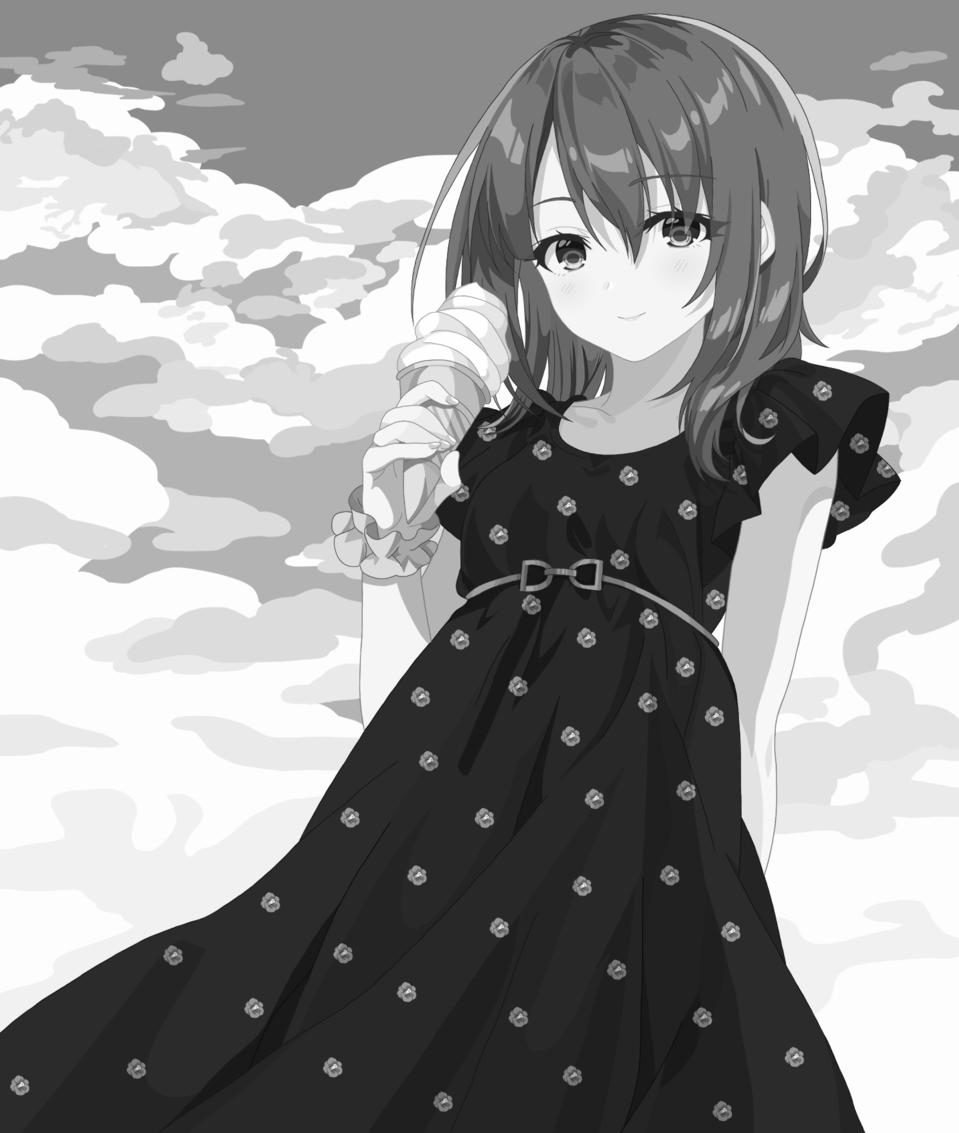 モノクロサマー Illust of 柚月バジル May2021_Monochrome オリジナルキャラクター女の子