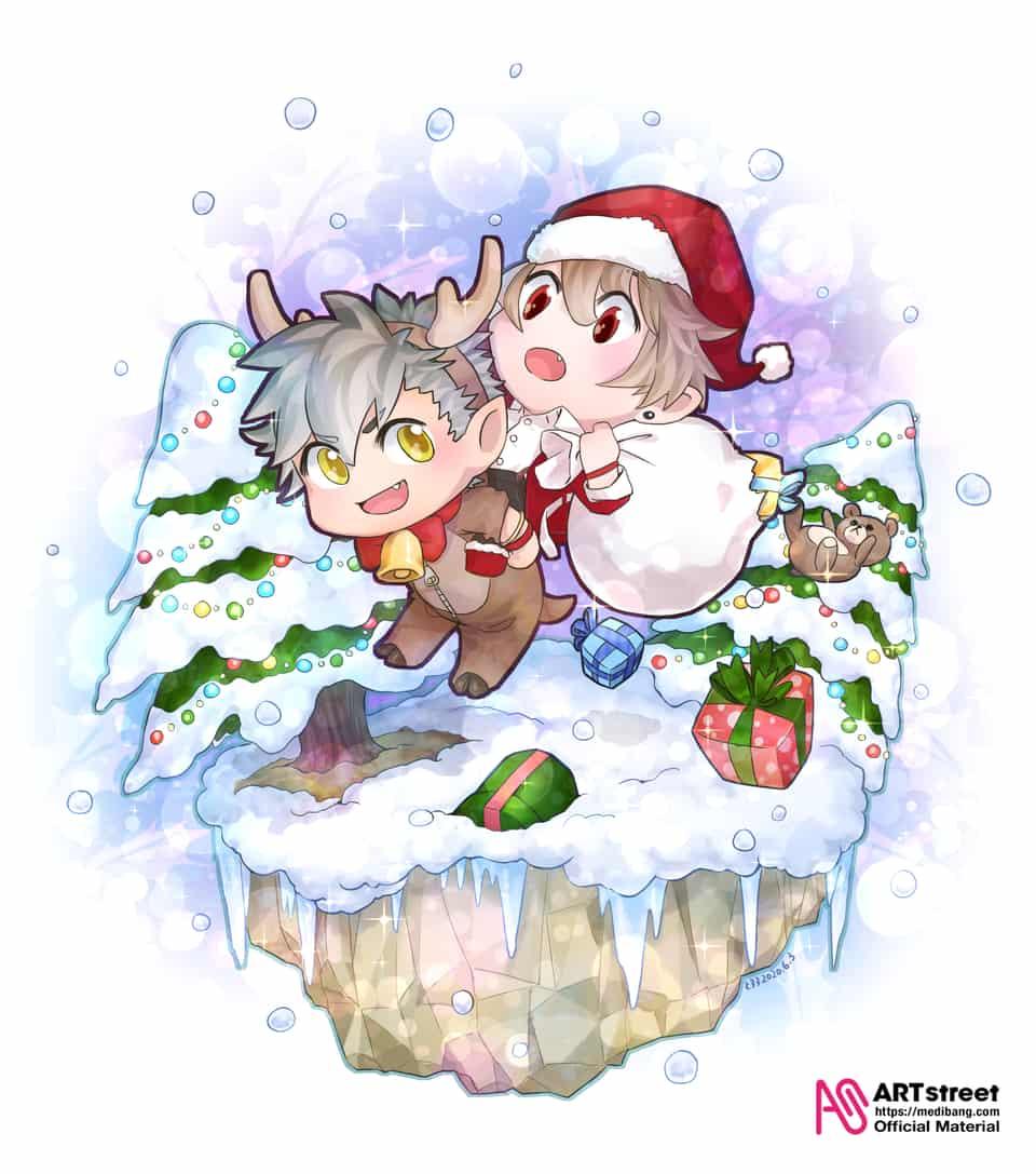 スノードーム Illust of 七屋 とろろ tracedrawing2 winter サンタ キラキラ