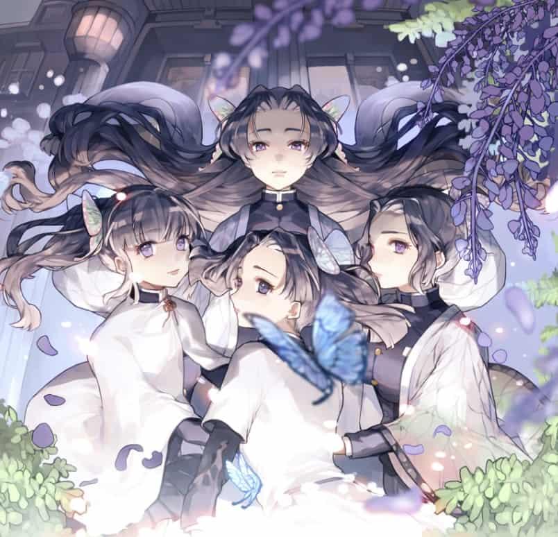 蝶屋敷 Illust of Ivy DemonSlayerFanartContest KochoKanae KimetsunoYaiba 神崎アオイ TsuyuriKanao KochouShinobu 蝶屋敷