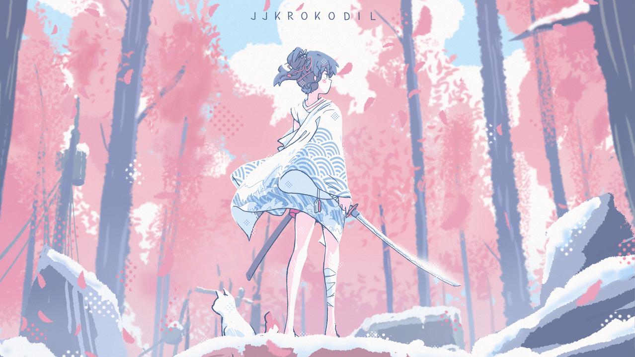 Into the Wilds Illust of JJKrokodil Post_Multiple_Images_Contest anime worldbuilding Comics environment animegirl medibangpaint illustration aesthetic katana medibang