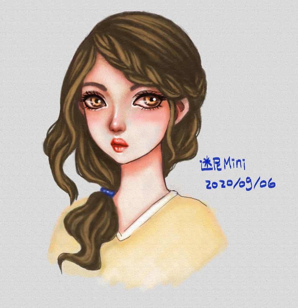圖:2020/09/06隨意畫(偽水彩)^^ Illust of cchenju(迷尼Mini) MyIdealWaifu MyIdealWaifu_MyIdealHusbandoContest original girl 電繪 cute illustration oc