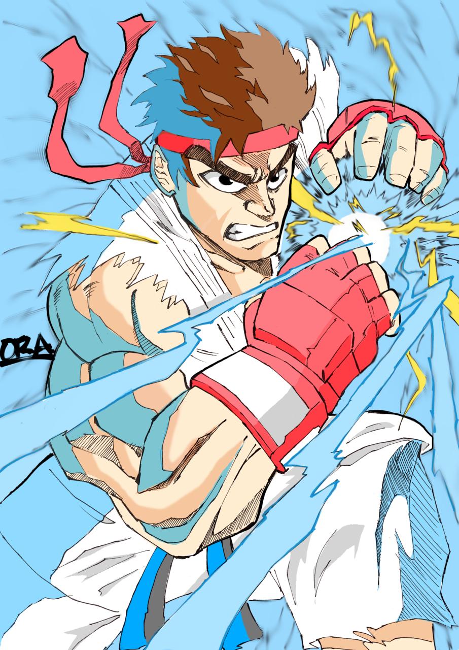 Street Fighter Ryu Vs. Oni Akuma!!!! Illust of That One Panda Post_Multiple_Images_Contest sketch fanart Artwork art drawing リュウ(ストリートファイター) StreetFighter digital