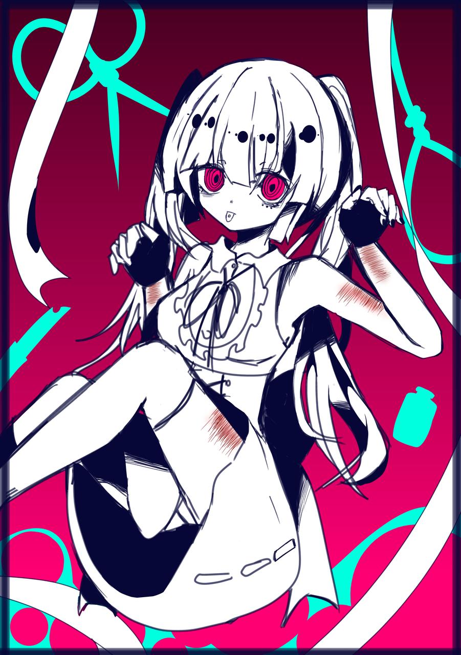 切り裂く Illust of MizuoTori medibangpaint oc girl 自残 lazy 自伤 原创角色