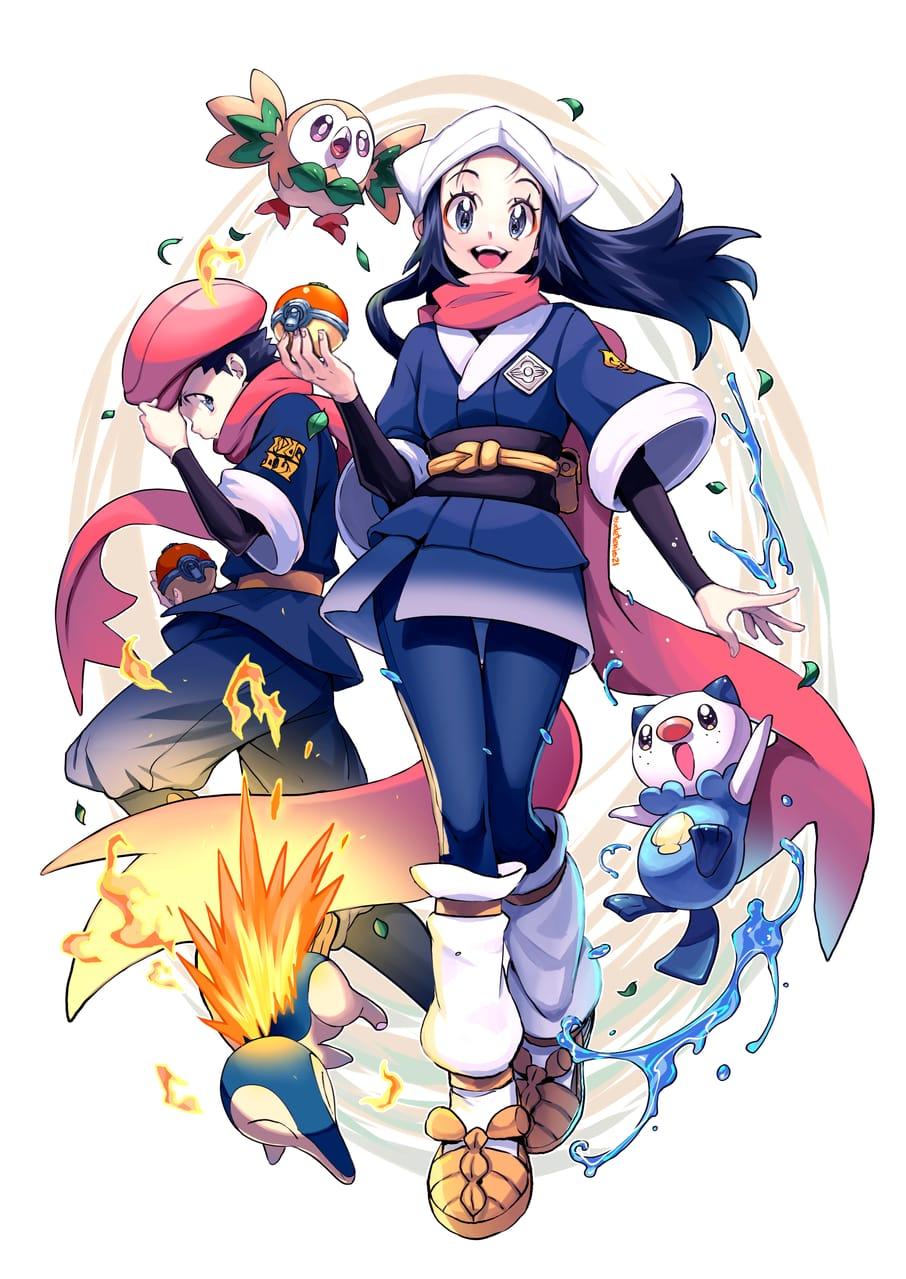 ポケモンLEGENDSアルセウスキャラクター Illust of EUDETENIS February2021_Fantasy pokemon girl ポケモンLEGENDSアルセウス EUDETENIS character