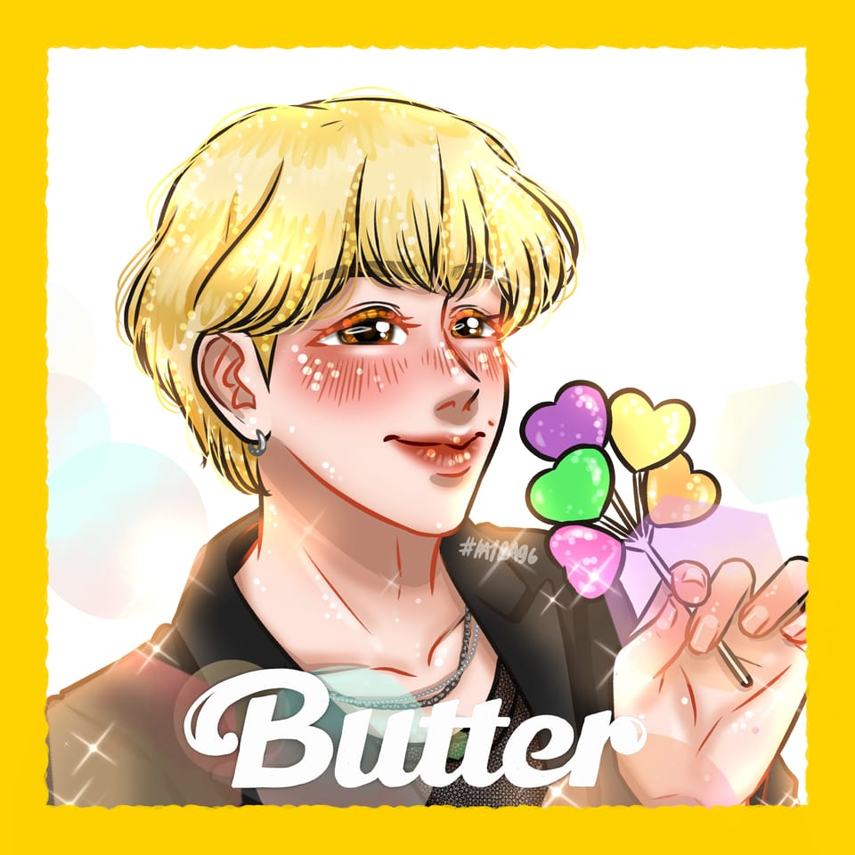 BTS BUTTER [HYUNG LINE] Illust of Hayra96 BTS fanart hayra96 Artwork medibangpaint smangartgallery