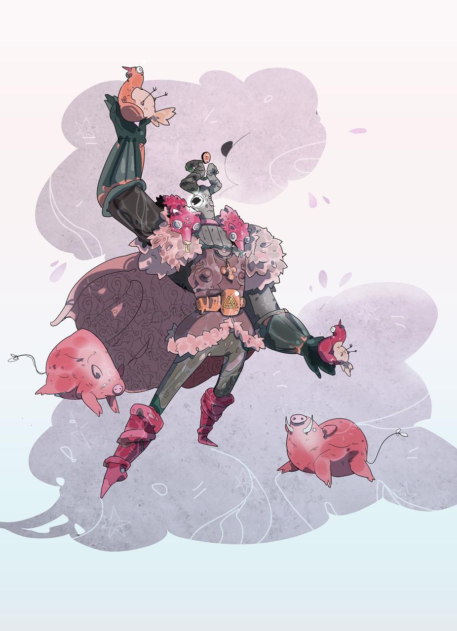 Epic Odin!!! Illust of Creatures&So creature medibangpaint Odin viking i goddess cdchallenge llustration characterdesign