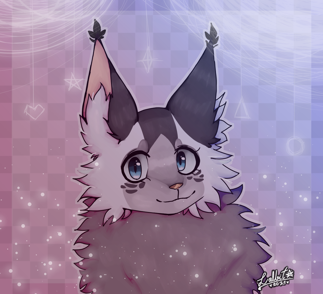 ✿◕ a gift for someone from Instagram ◕✿ Illust of Lolbit The Wolf ⭐ medibangpaint OwO LolbitTheWolf gift