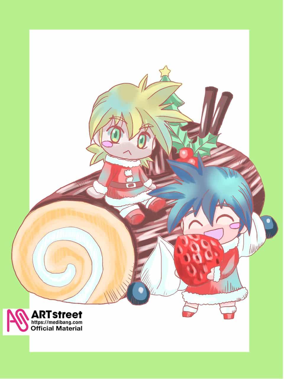 メリークリスマス Illust of 夜麻みゆき レヴァリアース Christmas Trace&Draw【Official】 シオン ウリック