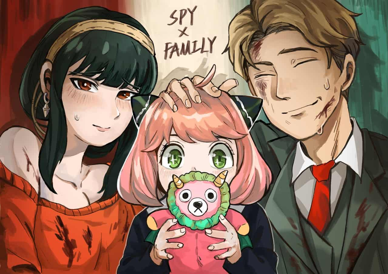 Sir, There's Nothing Suspicious 【先生,這裡沒什麼可疑的】 Illust of AJA 阿加かっき SPY×FAMILY_Contest SPY×FAMILY アーニャ・フォージャー ロイド・フォージャー SPYxFAMILYfanart ヨル・フォージャー
