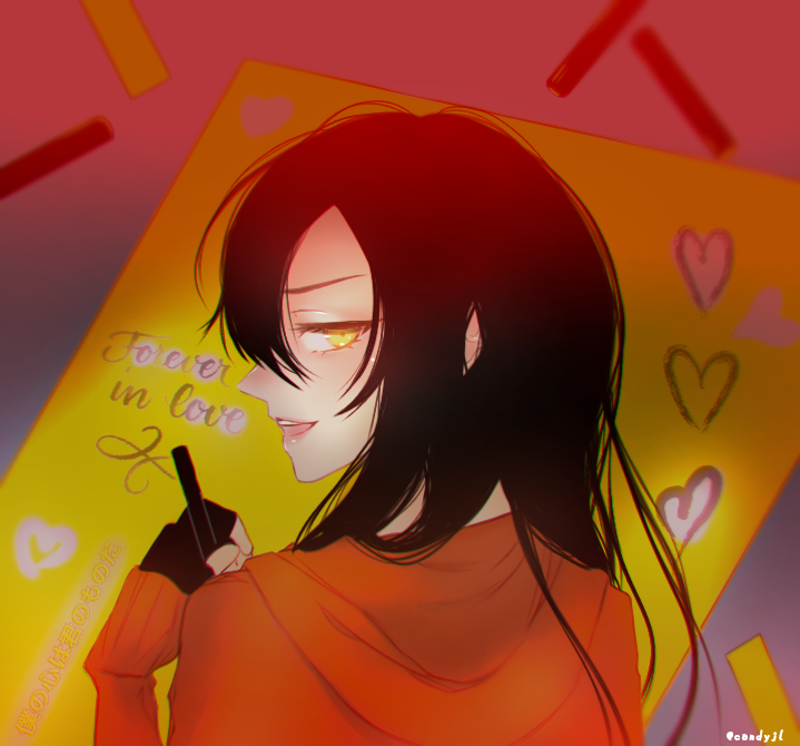 Tell me you love me ❤ Illust of Candyjl anime iPad_raffle girl oc yellow manga illustration Webtoon love medibangpaint