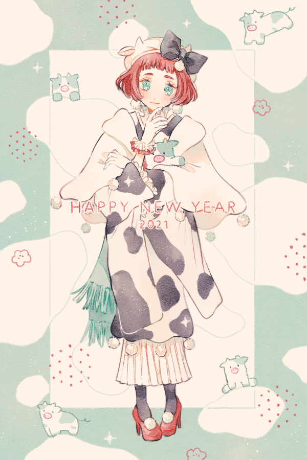 HAPPY NEW YEAR-2021- Illust of 緑乃 newyear original kimono お正月 girl