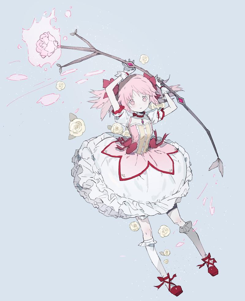 madoka Illust of s flower pink Puella_Magi_Madoka_Magica