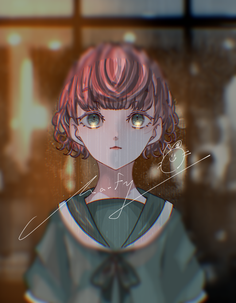 ;(´•௰•`)☂ Illust of Marfy kawaii girl 梅雨 sailor_uniform rain ribbon