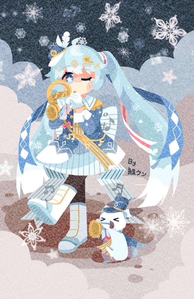 ❅ ❆ snow miku 2020 ❆ ❅ Illust of 我画画好难看 medibangpaint girl 雪ミク medibang hatsunemiku 色块 同人