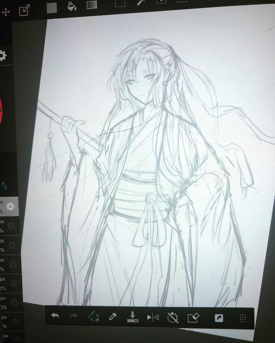 Fanart of Wei Wuxian from Mo Dao Zu Shi! Illust of 0o_hammie_o0 BL China iPad_raffle MoDaoZuShi medibangpaint WeiWuxian