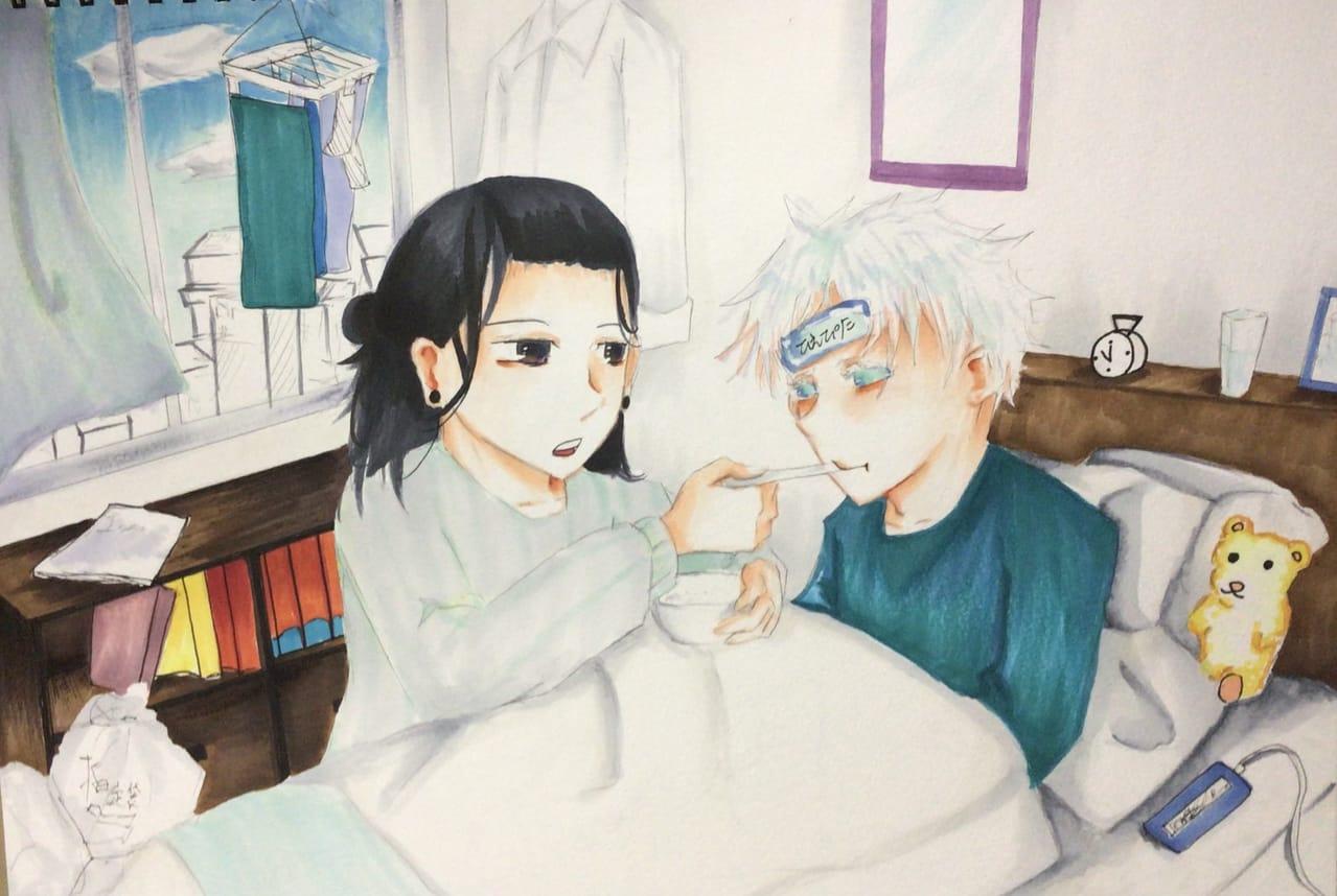 看病 Illust of 御神酒蜜柑by Whereabouts Art Director JujutsuKaisen anime 夏五 SatoruGojō animefanart 夏油傑