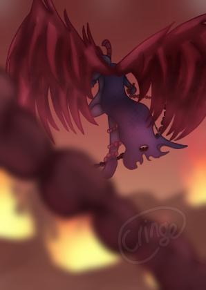 I don't know 🌚👌🏽 Illust of Cringe Official medibangpaint pink chain demon Artwork art illustration chains red character