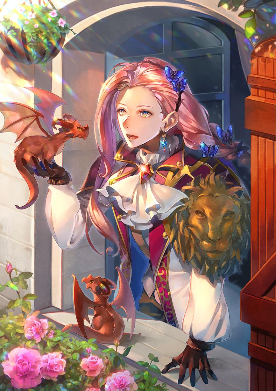 2匹の小さな旅出 Illust of ぽまめ fantasy 3rdMCPOillustration scenery dragon
