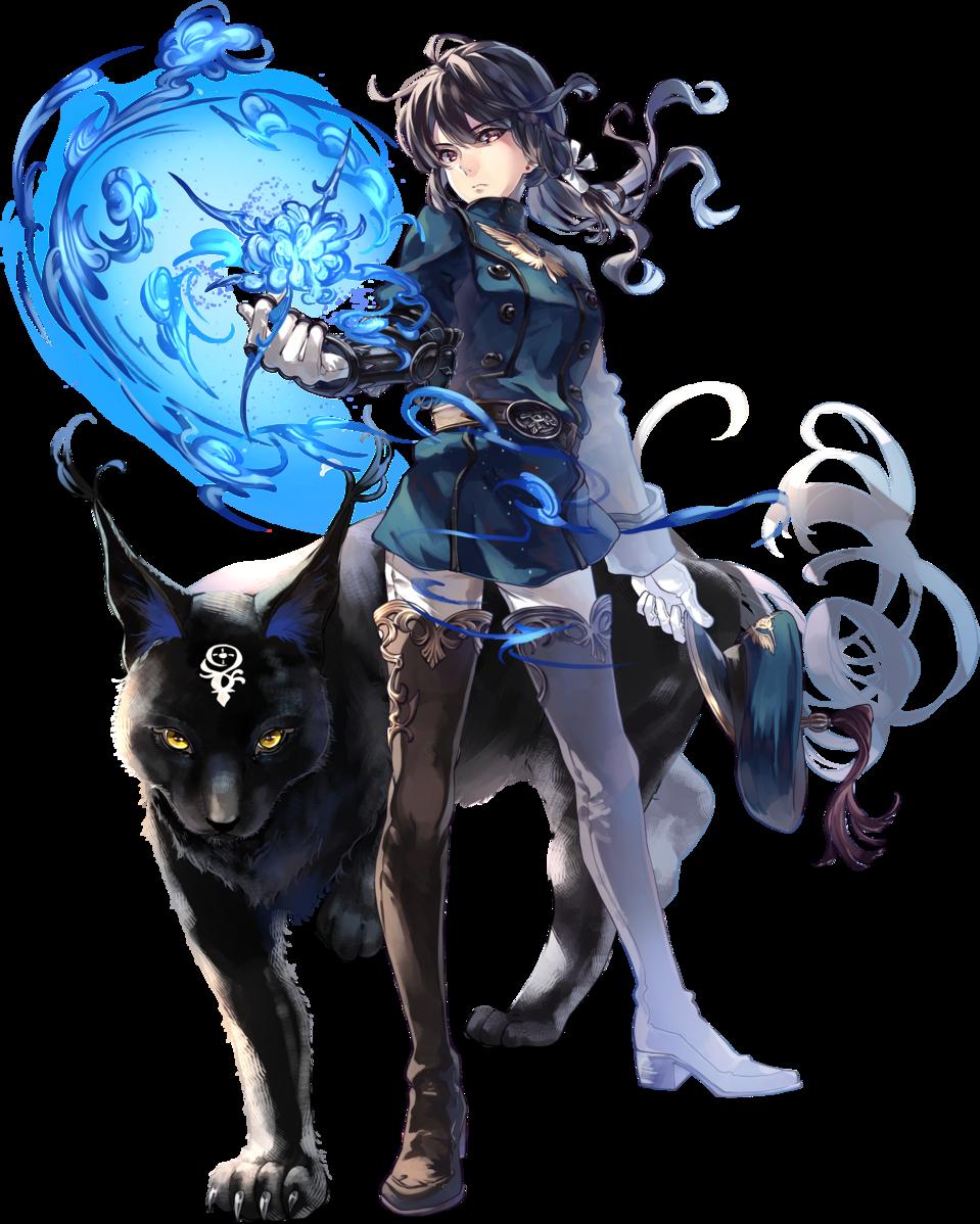 軍人さん Illust of あめのまち fantasy October2021_Contest:Uniform animal 軍人 ponytail 黒髪 militaryuniform blackcat