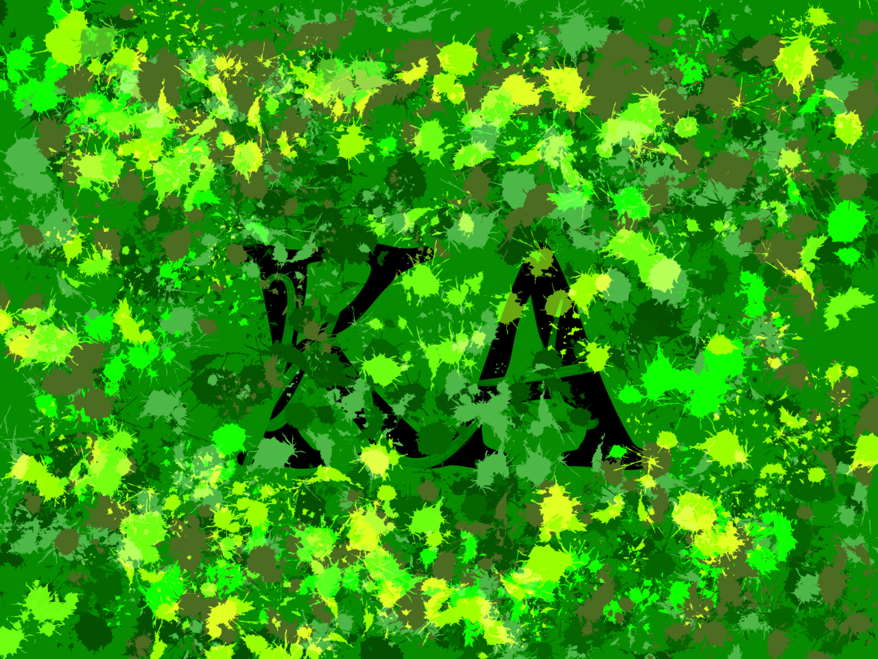 KA Illust of KA May2021_Monochrome 芸術 original KA green