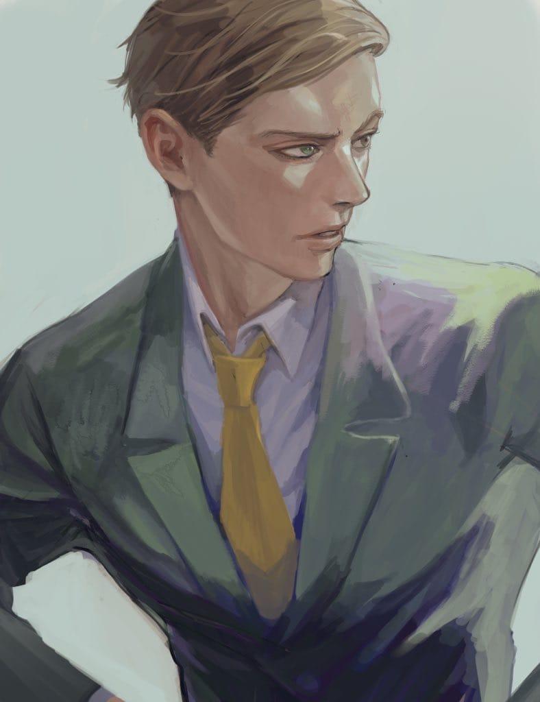 ◇ Illust of WLAN suit original male