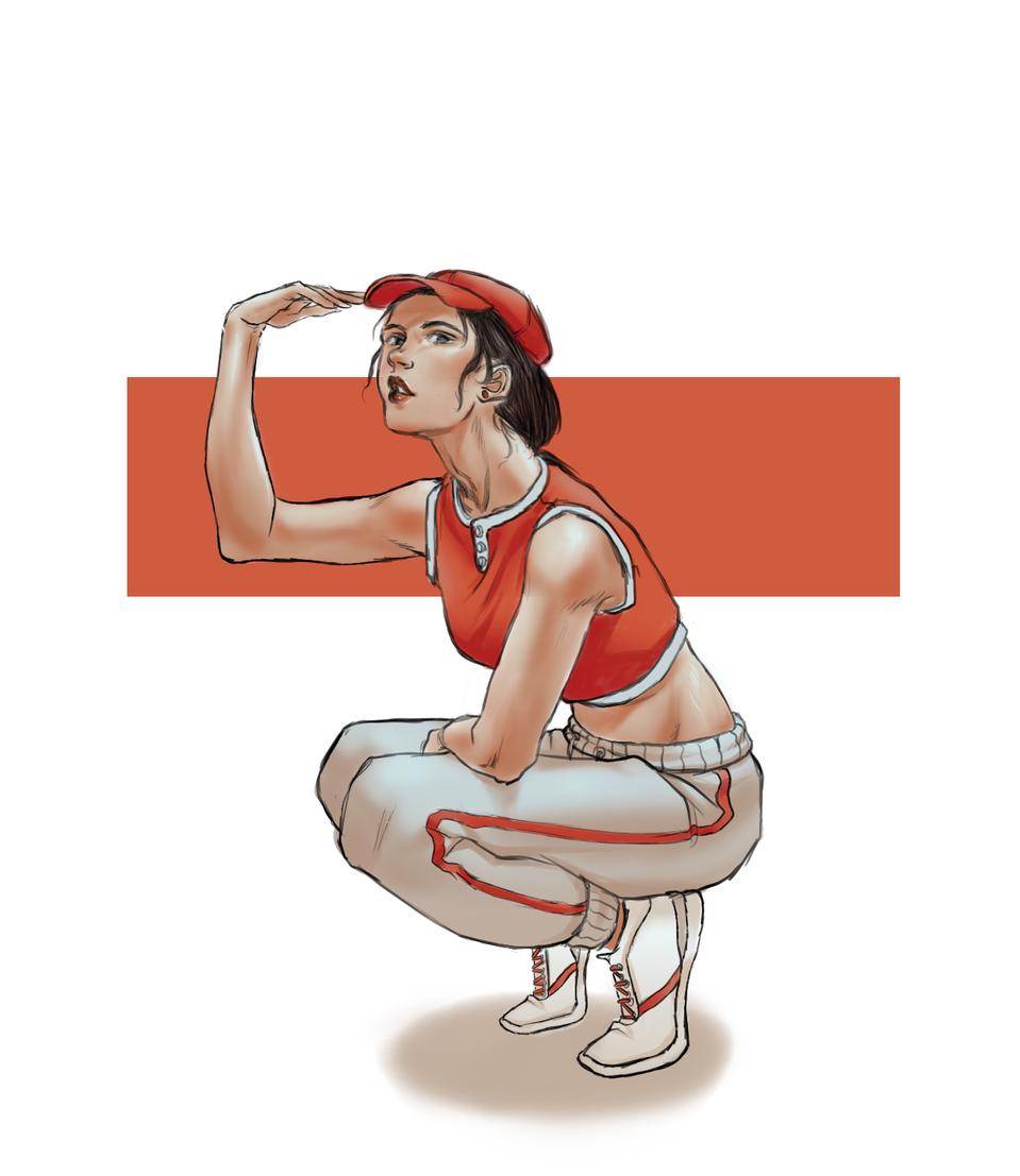 red cap girl