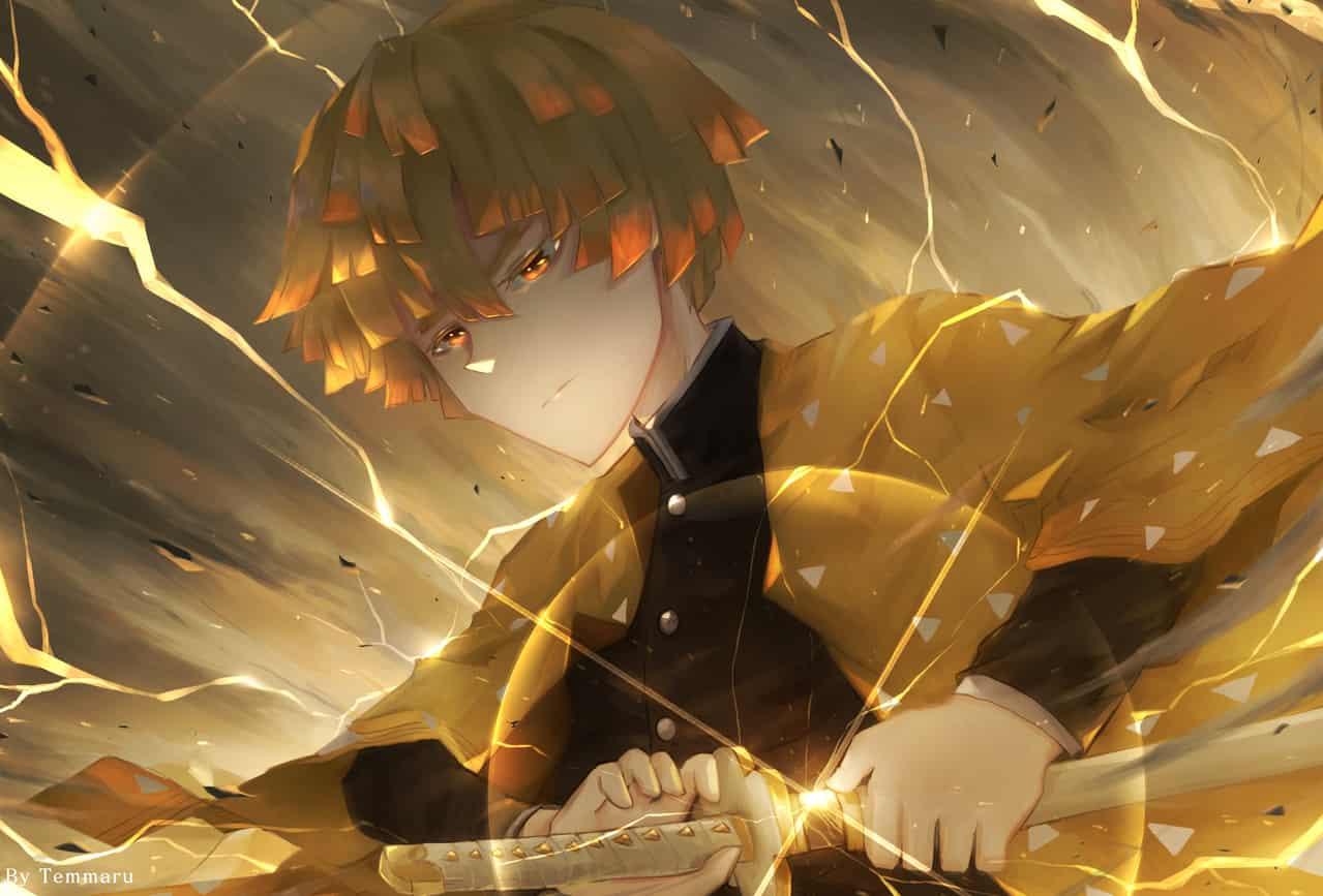 Fanart: Kimetsu no yaiba Illust of Temmaru KimetsunoYaiba fanart KamadoTanjirou AgatsumaZenitsu anime KamadoNezuko