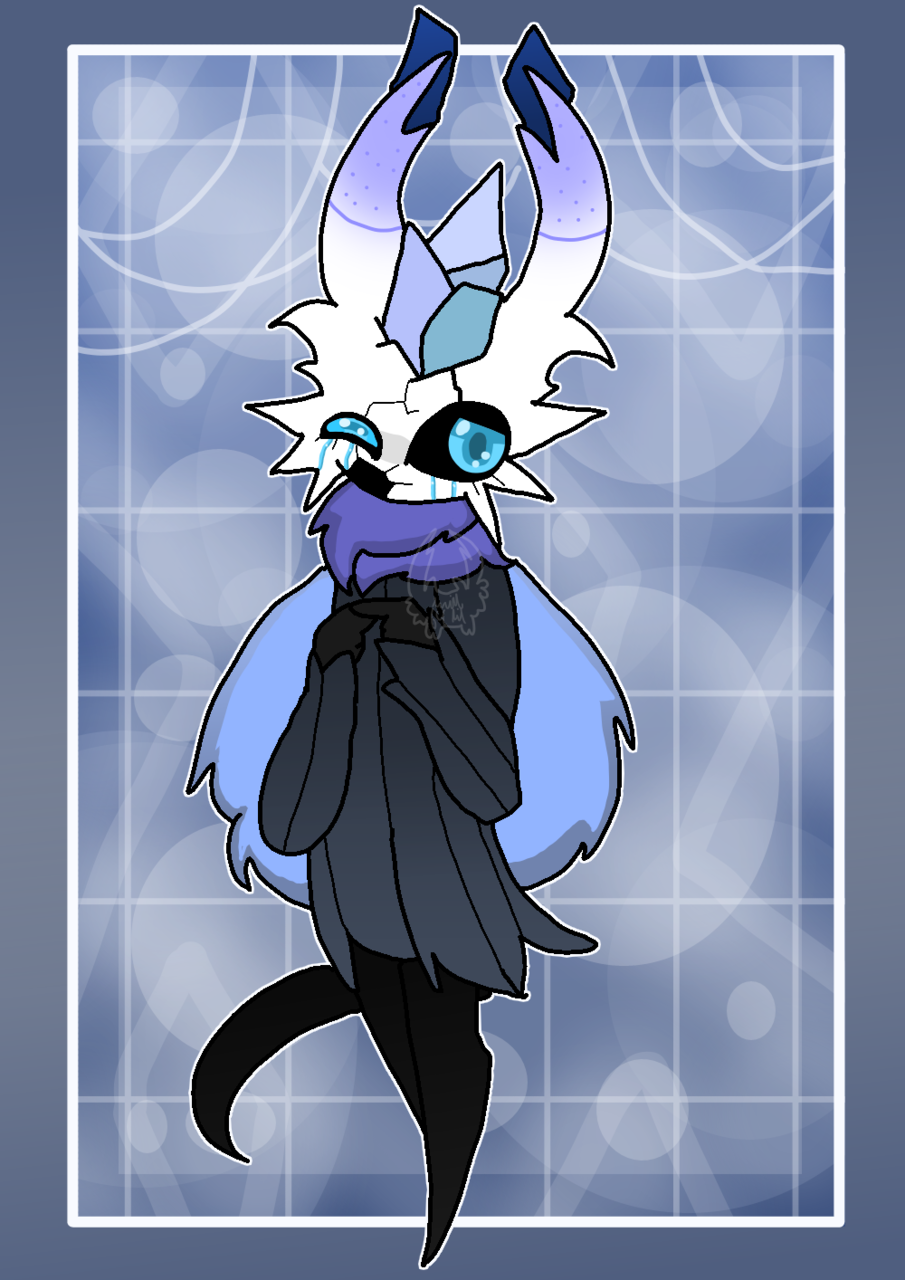 Gem Illust of Squidkid64 medibangpaint oc cute ❄️ash❄️ Gem Hollow_Knight