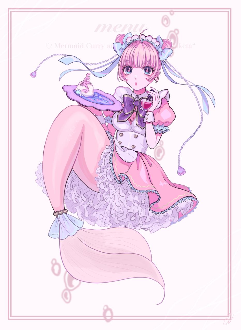 やっと見つけた♡ Illust of しずか girl maid mermaid illustration twin_ponytails ゆめかわいい original