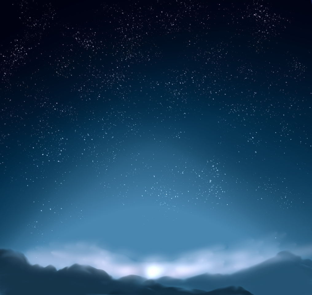 こっちの方がいいかな… Illust of 如月来蕾≮TRPG≯ medibangpaint 朝日 space 風景画 star 山