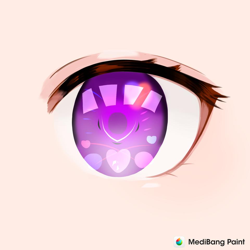 目ぇーw Illust of ユラ#ネット友多い iChallenge eyes お目め