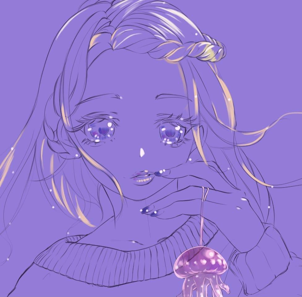 水族館の少女 Illust of まころん☆ ARTstreet_Ranking_Contest illustration animal Artwork 美少女 oc 絵柄いつもと違いますね 似顔絵 イラスト好きな人と繋がりたい animegirl 水族館