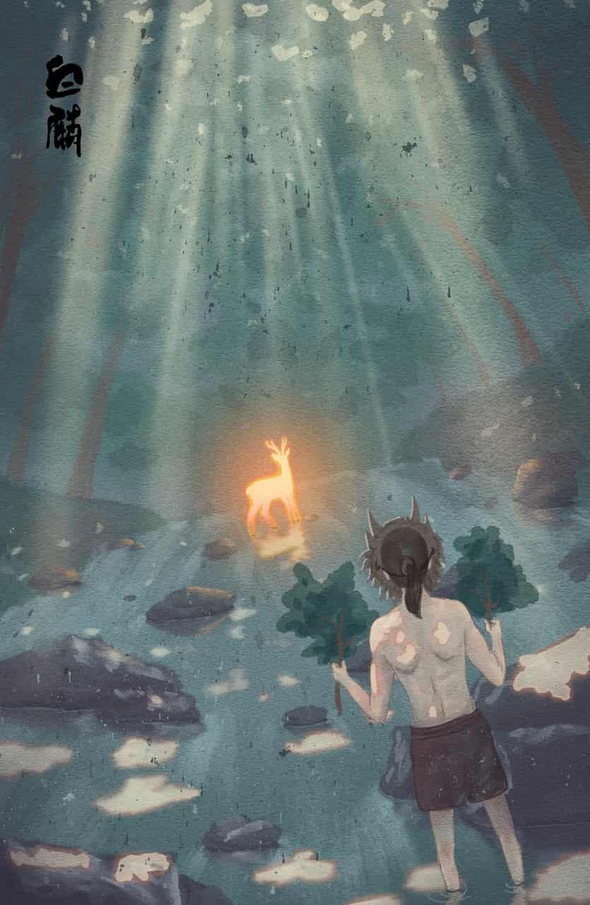 白麟游记 Illust of Fang yi bai kyoto-illust2019 scenery 神話 木漏れ日