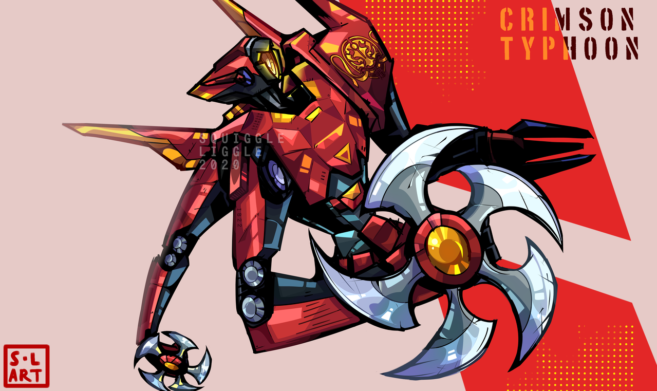 Crimson Typhoon/Tempest  =] Illust of Squiggle Liggle medibangpaint original