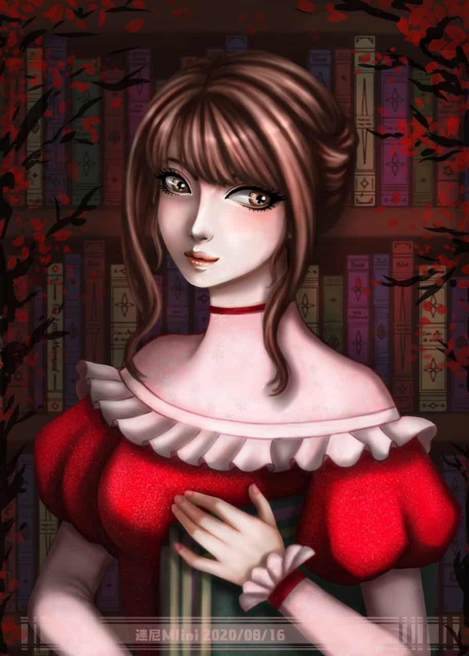 圖:2020/08/16隨意畫  Illust of cchenju(迷尼Mini) August2020_Contest:Horror MyIdealWaifu_MyIdealHusbandoContest MyIdealWaifu illustration painting 電繪 original girl 畫畫 古风