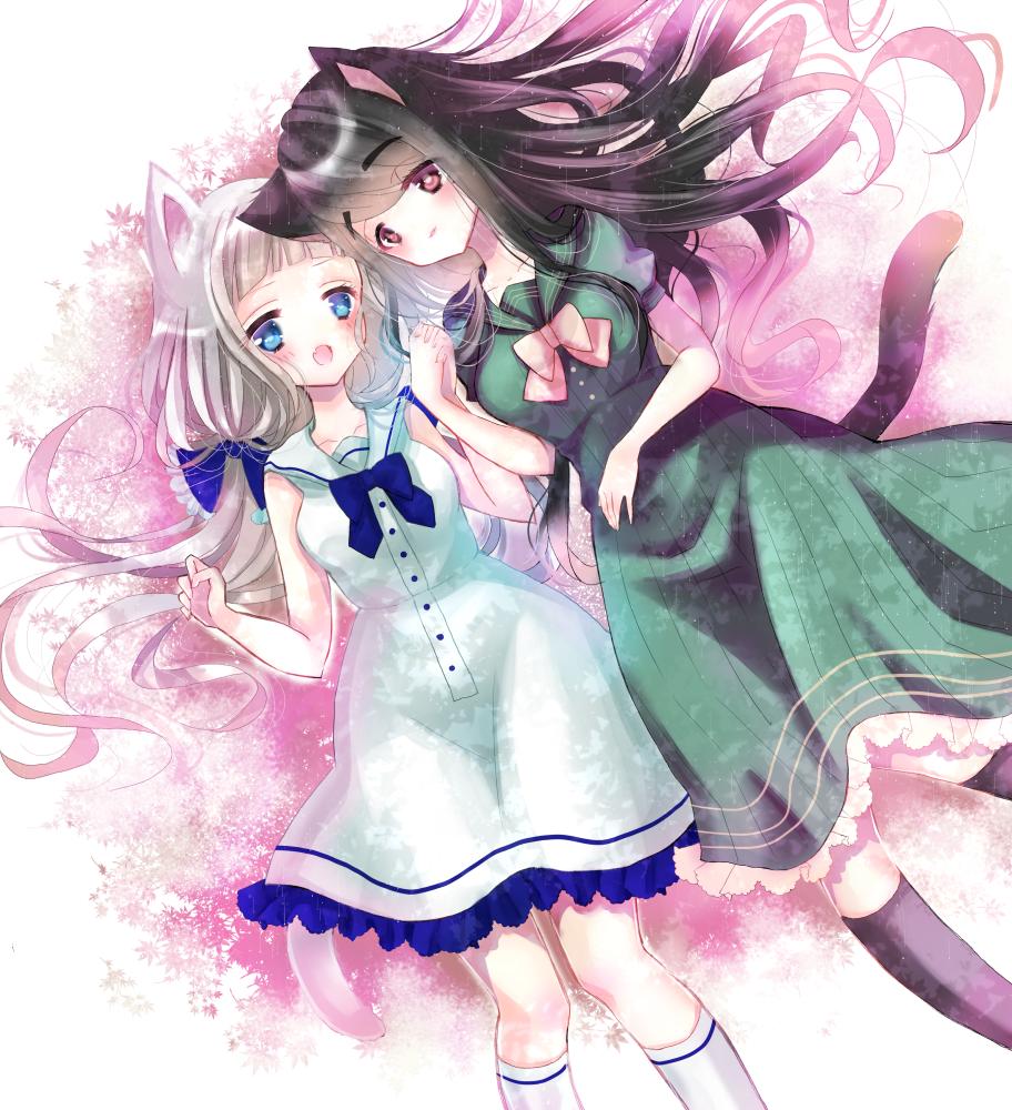 戯れ Illust of みつ猫 friend girl original