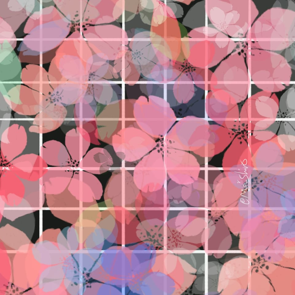 H a n a  Illust of maishiro design flower