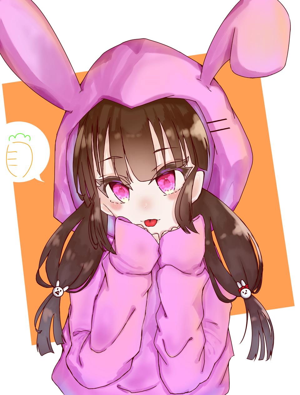 くま丸。さんの子描いてみました! Illust of ゆめこ2 おんなのこ rabbit medibangpaint