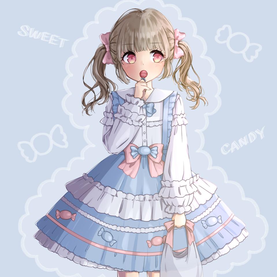 CANDY Illust of 天羽 りんな oc girl オリジナルキャラクター女の子 ファッション オリジナルキャラ ロリィタ