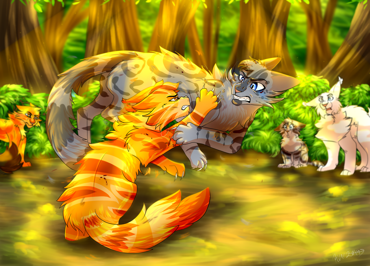 Lionpaw and Ashfur .:Warrior Cats:.