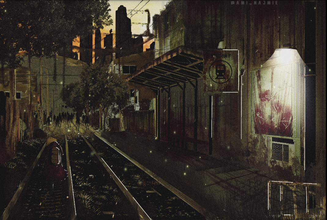 Apocalyptic vibes Illust of ami_najmie Background_Image_Contest BackgroundImageContest_Coloring_Division digitaldrawing painting Artwork concept digitalillustration