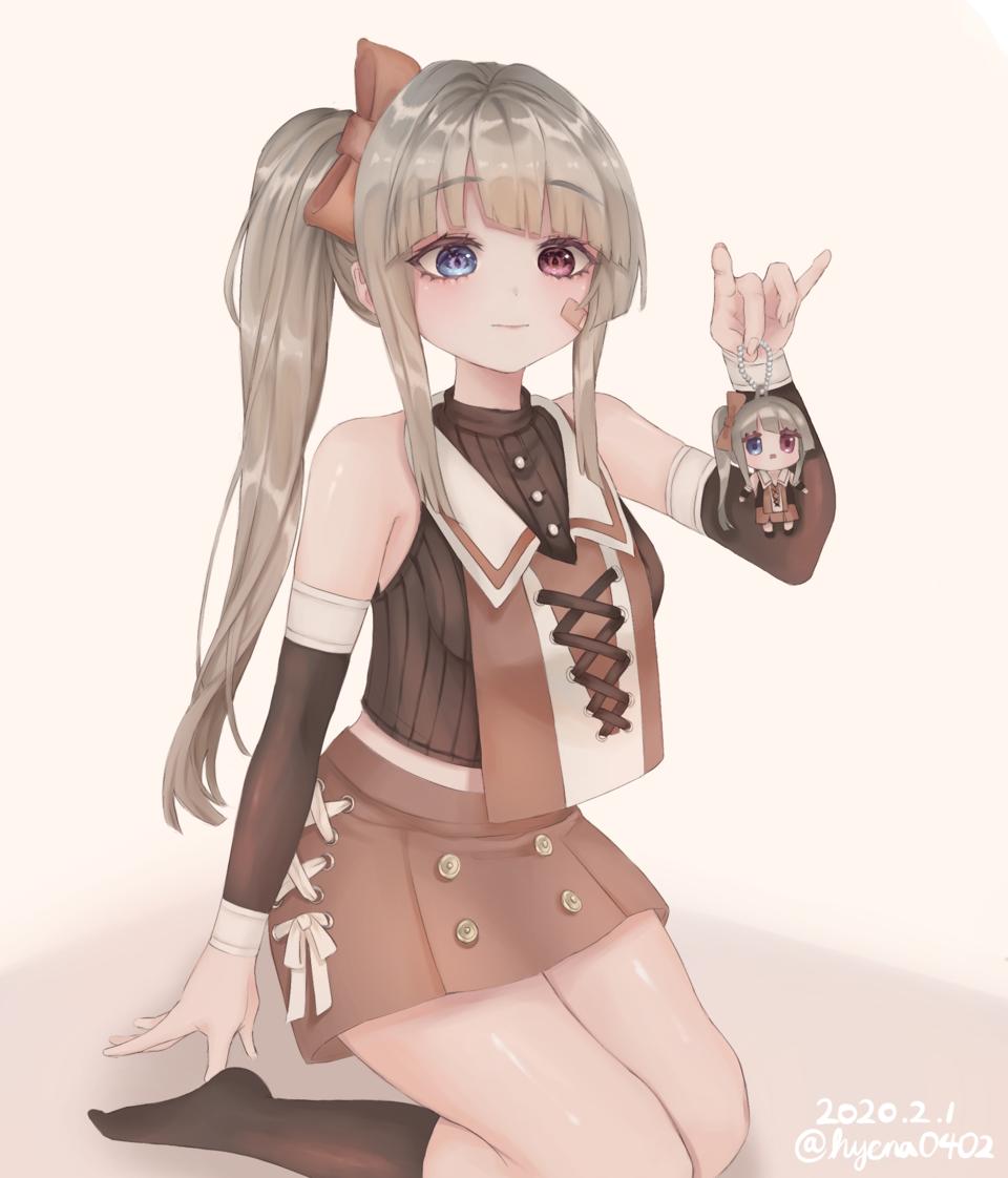 OC Illust of hyena cute girl kawaii oc illustration 은발 medibang