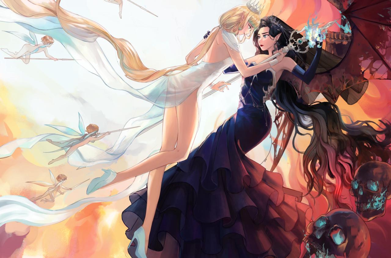 Twin Fairy Illust of 麻繩Mallope girl はだか